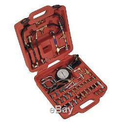 Sealey Petrol Fuel Injection Pressure Test Kit One Gauge 0-120psi VSE212