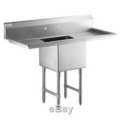 Stainless Steel One Compartments Commercial Sinks Bowl 16 Gauge Restaurants