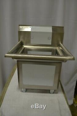 Steelton 20 1/2 18-Gauge Stainless Steel One Compartment Commercial Sink
