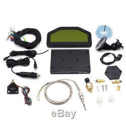 StockCar Dashboard LCD Screen Rally Gauge Dash Race Display Bluetooth Sensor Kit