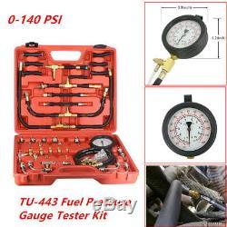 TU-443 Manometer Fuel Pressure Gauge Engine Injection Pump Tester Kit 0-140 PSI