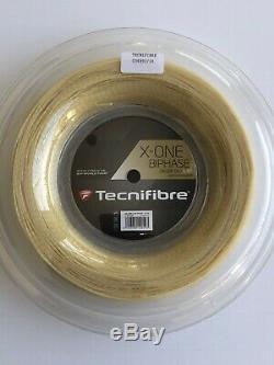Tecnifibre X-One Biphase 16 Gauge 1.30mm 660' 200m Tennis String Reel Natural