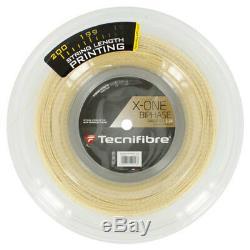 Tecnifibre X-One Biphase 17 Gauge 1.24 mm Tennis String Reel Natural 660 ft 200m