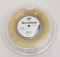 Tecnifibre X-One Biphase 17 Gauge 1.24mm 200m Tennis String Reel Natural