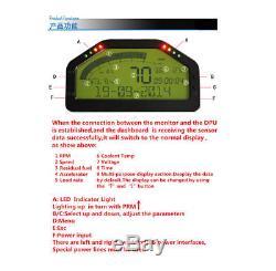 Universal Car Dash Race LCD Display OBD2 Bluetooth Dashboard Digital Gauge Kit