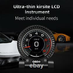 Universal Car Digital HUD OBD Driving Computer Code Meter LCD Head-up Monitor