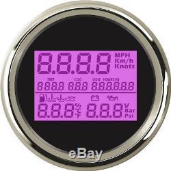 Universal Multifunction Gauges Anti-Fog Glass Car 85mm GPS Speedometer Odometer