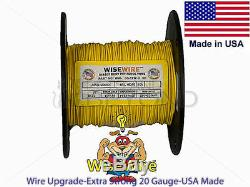Wise Wire Heavy Duty Solid Dog Fence Wire 20-14 Gauge 500' 1000' on ONE Spool