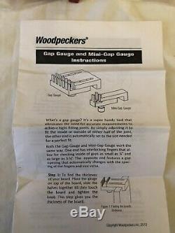 Woodpeckers Tools One Time Tool Gap Gauge And Mini Gauge Set