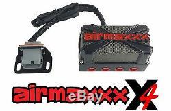 X4 Air Valve Manifold Wire Harness Dual Digital Gauges & AVS 7 Switch Box Black
