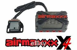 X4 Air Valve Manifold Wire Harness & Dual Digital Gauges For Air Ride Suspension