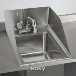 10 X 14 X 5 16 Jauge Acier Inoxydable Un Compartiment Drop In Sink 8 Robinet