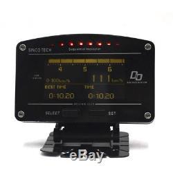 11-en-1 Kits De Capteur De Compteur De Jauge D'affichage De Tableau De Bord De Voiture De Course De Rallye Motorsport