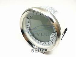 12v 6in1 Gps Speedometer Tachymètre Pression D'huile Température De L'eau Voltmètre Jauge De Carburant