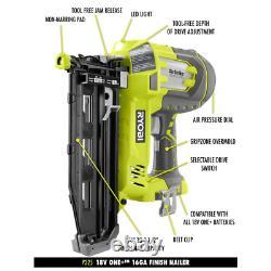 18-volt One+ 18-gauge Nâiler Sans Fil Brad + 16-gauge Nâiler De Finition Droite
