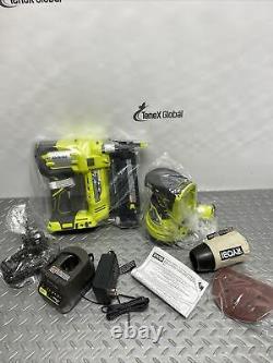 18v One+ Cordless 18-gauge Brad Nailer & 5 Random Orbit Sander Combo Kit P-14