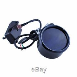 2 Couverture Voiture Noire 52 MM Digital Blue Led Psi Turbo Boost Gauge Compteur Universel