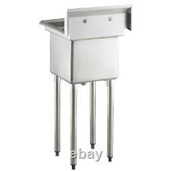 20 1/2 18 Gauge Acier Inoxydable Un Compartiment Commercial Sink Nsf Restaurants