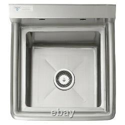 20 1/2 18 Jauge Acier Inoxydable One Compartment Commercial Sink Nsf Restaurants
