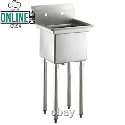 20 1/2 Calibre 18 Un Acier Inoxydable Compartiment Commercial Sink Nsf Restaurants