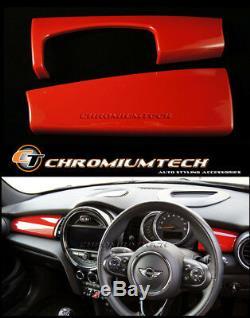 2014 Et Jusqu'à Mk3 Mini Cooper / S / One / Jcw F55 F56 F57 Rouge Tableau De Bord Panneau De Garniture Couverture