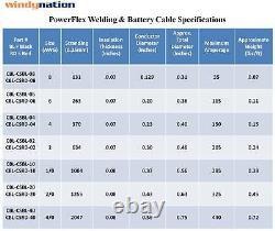 4/0 Jauge Awg Câble De Batterie Fil Solaire Marine Power Onduleur Voiture Cuivre Pur