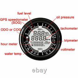 6 En 1 Speedomètre Gps Multifonctionnel Tachymètre De Voiture Tachymètre D'eau Temp Gauge