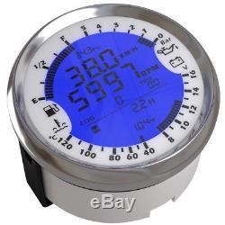 6t1 Voiture Gps Compteur De Vitesse Tachymètre Température De L'eau Jauge De Voltmètre De Pression D'huile 85mm