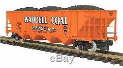 70-75058 Mth One-gauge Waddell Coal (# 107), Wagon-trémie À 4 Baies Avec Charge En Charge