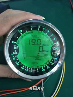 85mm Compteur De Vitesse Gps Jauge Heure Température De L'eau Niveau De Carburant Pression D'huile Voltmètre 12v