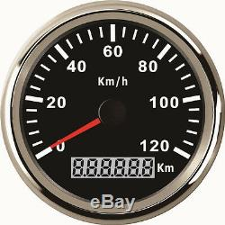 85mm Gps Speedomètre Gauge 0-120km / H Ip67 Pour Camion De Voiture 12v Marine Bateau 24