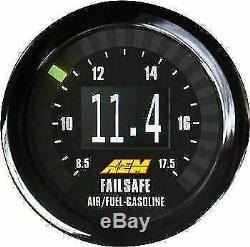 Aem Numérique Wideband Uego Boost Air / Fuel Gauge Repli Tout En Un 30-4900