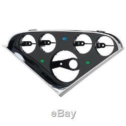 Autometer For 55-59 Chevy Trucks 5-gauge Dash Panel Convient À Un 3-3 / 8in Tach / Speed
