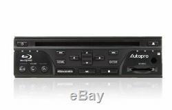 Autopro Bd1208 Dash Taille One Din Blu-ray Lecteur DVD Sans Radio Am / Fm Noir