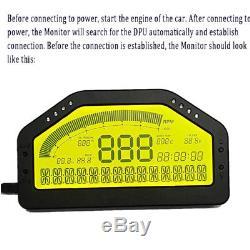 Bluetooth Obd2 Dash Mount Race Jauge LCD Affichage Rallye Compteur Vitesse Vitesse Carburant Niveau