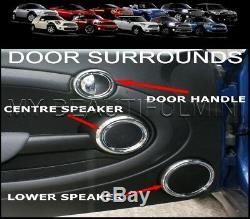 Bmw Mk2 Mini Clubman Cooper, Cooper S, Et One, Kit De Garniture Intérieure À Cadran Intérieur Chromé, 27 Pièces