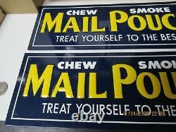 Boîte De Courrier Tabac Heavy Gauge 2 Panneaux Publicitaires En Relief D'étain Un Avec Papier Nos