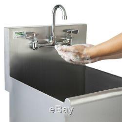 Calibre 16 Un Compartiment En Acier Inoxydable Sink Utilitaire Commercial 18 X 18 X 13