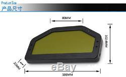 Car LCD Durable Dash Dashboard Rallye Indicateur De Vitesse Tension Compteur Kilométrique Air Fuel Ratio