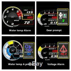Car Obd2 Jauge De Pression D'huile Turbo Boost Numérique Compteur De Vitesse Surveillance En Temps Réel