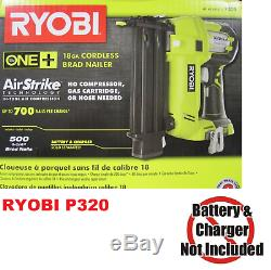 Cloueur Sans Fil Brad Ryobi 18 Volts 18 Volts One + Airstrike 18 Volts (outil Seulement)