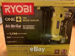 Cloueuse Sans Fil Brad De Calibre 18 Ryobi, 18 Volts One + Airstrike Avec Pile
