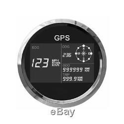 Compteur De Vitesse Gps Multifonction Universel 85mm 0299 mph Noeuds Km / H Bateau Voiture 7led