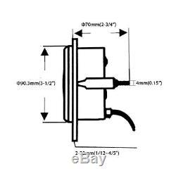 Compteur Kilométrique D'indicateur De Vitesse De Gps Digital De 85mm Pour Le Tachymètre Marin De Camion De Voiture De Vtt