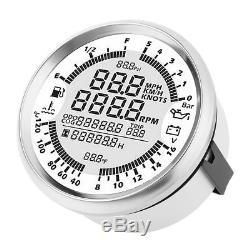 Compteur Kilométrique Tachymètre Pour Compteur De Vitesse Gps Digital 999mph Pour Marine 85mm De Camion De Voiture De Vtt