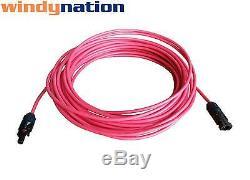 Connecteur Mc4 De Fil De Câble Solaire De Calibre 8 Awg De Calibre 8, Une Paire, Noir + Rouge