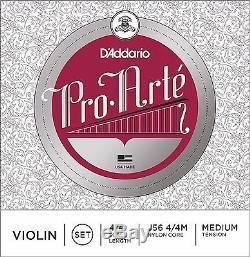 Cordes D'addario Pro Arte Pour Violon - Moyen, Taille Normale 4/4, Un Jeu
