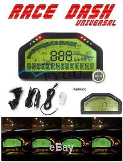 Course Dash Voiture Universel Obd2 Bluetooth Tableau De Bord LCD Gauge Numérique À 7000rpm