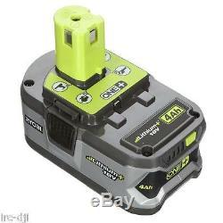 Ensemble De 2 Batteries Ryobi P122 P108 One + 18 Volts Haute Capacité Au Lithium + Avec Jauge À Essence