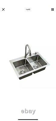 Glacier Bay All-in-one Tight Radius Stainless Steel 33 18-gauge Kitchen Sink